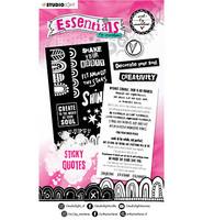 Studio Light - Art by Marlene, Sticker Pad Sticky Quotes Essentials nr.03, Tarrasetti