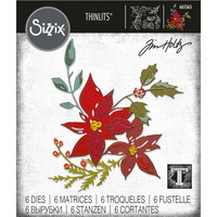 Sizzix - Thinlits Dies By Tim Holtz, Stanssisetti, Festive Bouquet