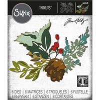 Sizzix - Thinlits Dies By Tim Holtz, Stanssisetti, Holiday Brushstroke #2