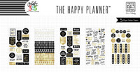 Happy Planner tarrasetti, Black, White and Gold, 5arkkia