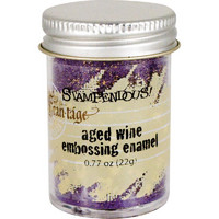 Stampendous Frantage Aged Embossing Enamel, aged wine, 22g