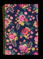 Bloom 2017 Hardcover Fashion Planner Vintage Floral