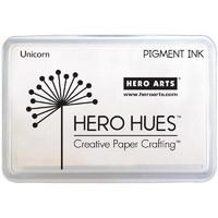 Leimamustetyyny, Hero Hues Pigment Ink, Unicorn, Valkoinen