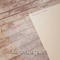 Muovipaperiarkki, valkoinen, A4