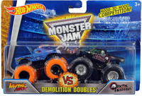 Hot Wheels Monster Jam kahden autonsetti, Koko 1:64 DMK70