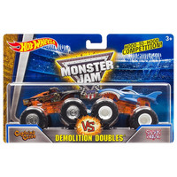 Hot Wheels Monster Jam kahden autonsetti, Koko 1:64 DMK74