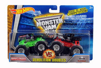Hot Wheels Monster Jam kahden autonsetti, Koko 1:64 DMK65