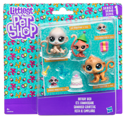 Littlest pet shop FAMILY PACKS AST