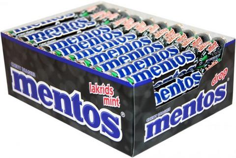 Mentos Lakritz-Mint 37,5g x 40kpl