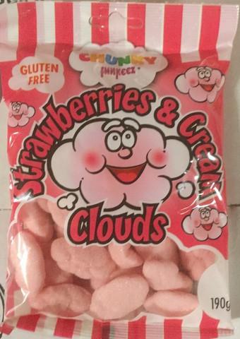 Mansikka pilvi karkkipussi 190g,  gluteeniton
