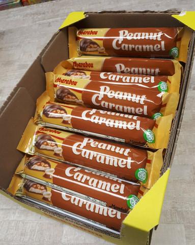 Marabou Peanut Caramel suklaapatukka laatikko 36,5g x 36 kpl