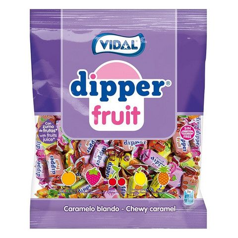 Dipper Fruit hedelmätoffee pussi 70g 14pussia, Vidal