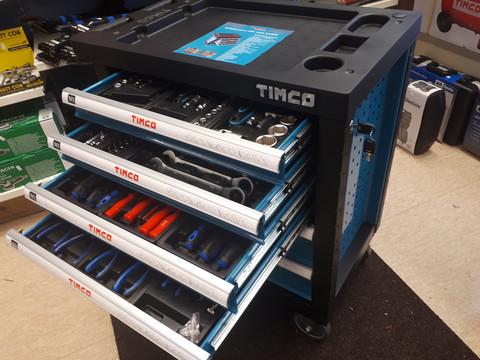 Timco 6 ltk 220-osainen työkaluvaunu työkaluilla