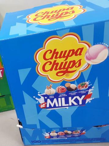 Chupa Chups Milky tikkarit 100 kpl/laatikko