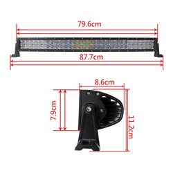 Led valopaneeli 180w curved