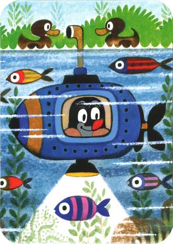 Postikortti, Myyrä ja sukellusvene