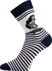 Sockor, mörkblå-rand (storlek 30/34 och 35/38)