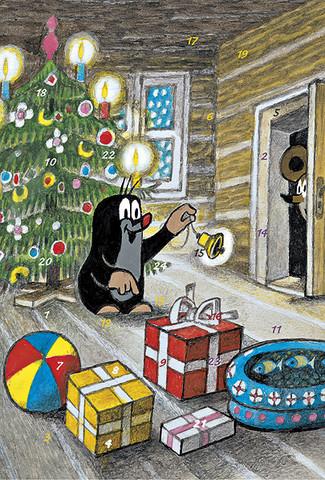 Mullvad Julkalenderkort, Motiv 2