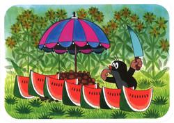 Postikortti, Myyrä ja melonit