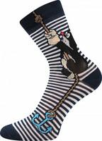 Sockor, blå ankare (storlek 39/42 och 43/46)