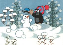 Postikortti, Myyrä ja lumiukko