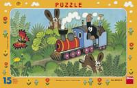 Mullvaden och lokomotivet, pussel med 15 bitar