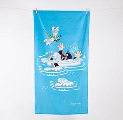 Myyrä-pyyhe, uimassa