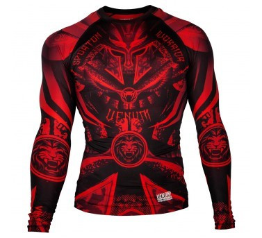 VENUM GLADIATOR 3.0 RED DEVIL RASHGUARD - BLACK/RED - LONG SLEEVES