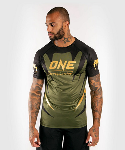 Venum x ONE FC Dry Tech T-shirt - Khaki/Gold