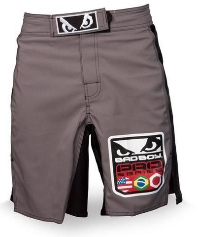 Bad Boy World Class Pro Fight Short Silver