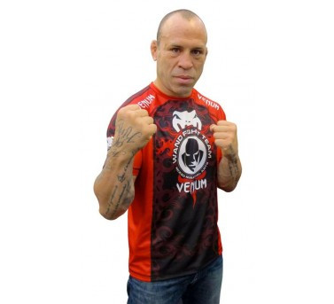 Venum Wanderlei Silva UFC 147 walkout tee black/red