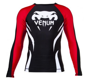 Venum Electron 2.0 rashguard - Black - Long sleeves