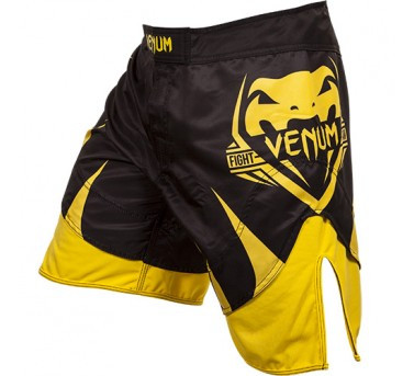 Venum Shogun Signature Fightshorts - Black/Yellow