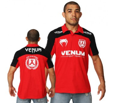 Venum José Aldo Junior Signature Polo - Red/Black