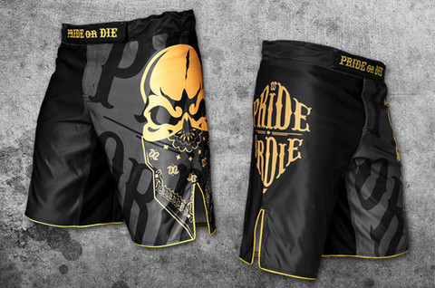 POD Reckless fight short black/gold
