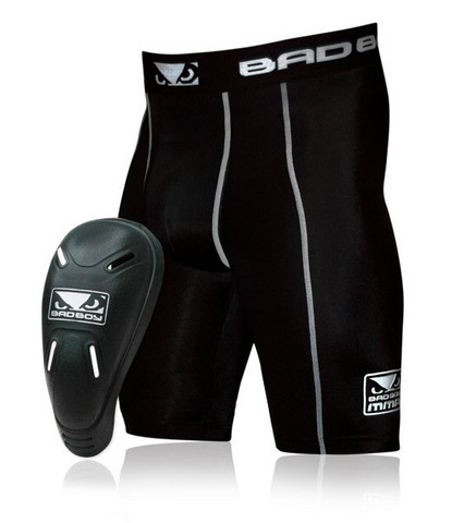 Bad Boy Defender 2.0 Compression Shorts and Cup