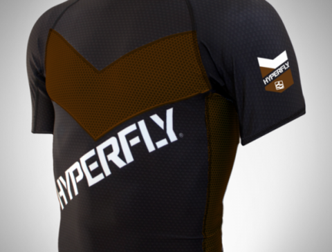 DO OR DIE Hyperfly PRO COMP rashguard brown