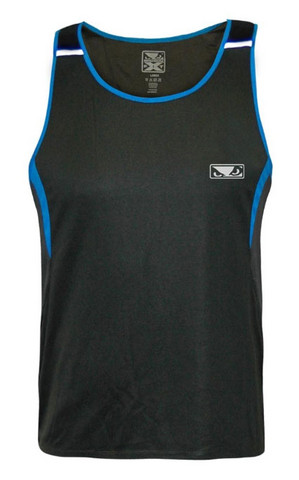 Bad Boy Fitness Muscle Vest - Charcoal/Blue
