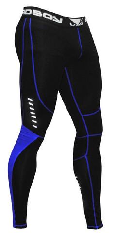 Bad Boy Sphere Compression Leggings- Black/ Blue
