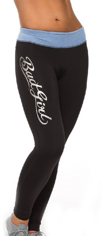 Bad Girl Fitness Tights – Black/Blue