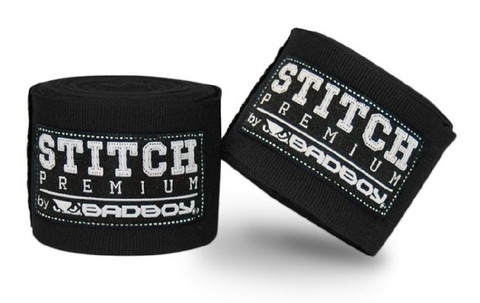 Bad Boy Stitch Premium Hand Wraps- 5m Black