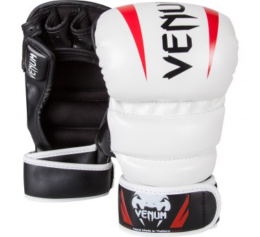 Venum Elite Sparring MMA Gloves - Ice/Black/Red