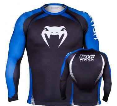 Venum No Gi Rash Guard IBJJF Approved - Long Sleeves - Black/Blue