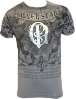Silver Star Georges St-Pierre Foil Tee Grey