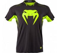 Venum 'Hurricane' X Fit™ T-shirt - Black/Neo Yellow
