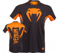 VENUM 'HURRICANE' X FIT™ T-SHIRT - BLACK/NEO ORANGE