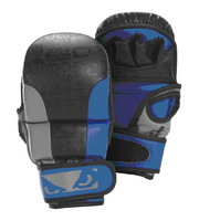 Bad Boy Legacy Safety MMA Gloves - Blue/Grey/Black