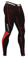 Bad Boy Sphere Compression Leggings- Black/ Red