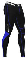 Bad Boy Sphere Compression Leggings- Black/ Blue