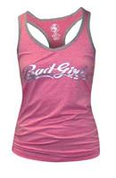 Bad Girl Racer Vest Top pink